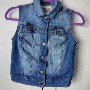 Mossimo Denim Jean Distressed Sleeveless Jacket S
